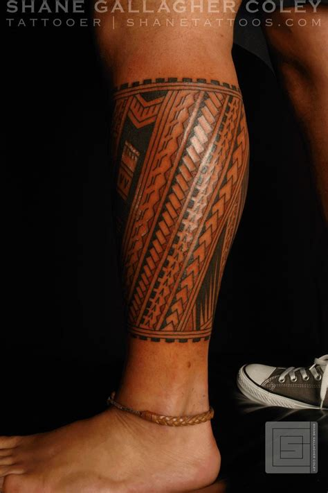 back leg tattoos designs 39 best calf images on polynesian