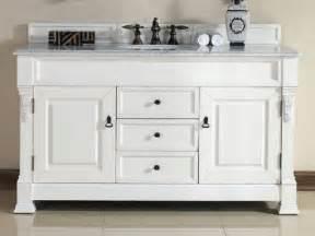 60 inch single sink cottage white vanity bathroomliving com