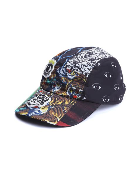 Kenzo Hat lyst kenzo printed baseball cap in black for