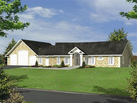 burdeau luxury ranch home plan 088d 0366 house plans and
