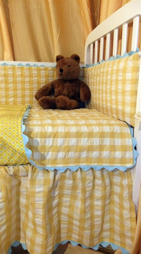 Seersucker Crib Bedding Gingham Baby Bedding And Bedding On