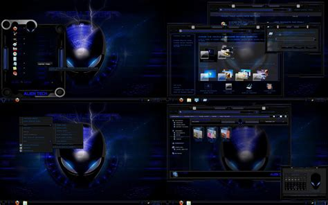 glass themes for windows 8 1 free download windows 7 theme blue glass alien tech by customizewin7 on