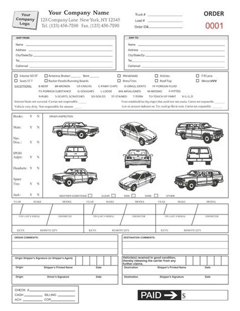 Bill Of Lading Short Form Template Templates Resume Exles 4raojejyyb Auto Transport Bill Of Lading Template Free