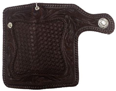 leather biker wallet pattern biker wallet brown leather weave floral pattern tan