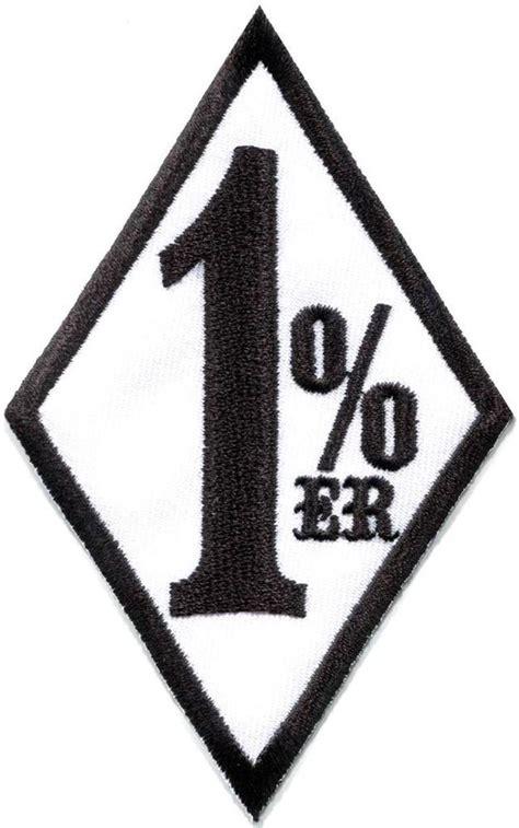 one percenter 1 er biker outlaw motorcycle gang applique
