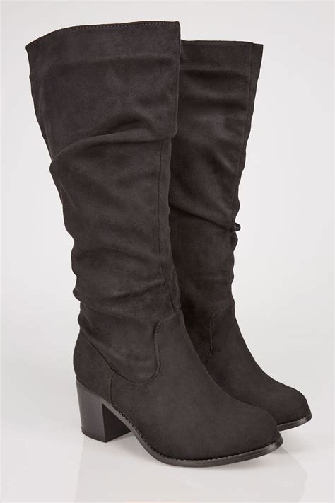 Where Can I Use My Target Visa Gift Card - black ruched knee high block heel boots with xl calf fitting in true eee fit sizes