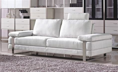 white fabric sofa white fabric modern 7095 sofa w optional loveseat chair