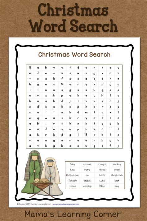 printable free christmas word search christmas word search free printable mamas learning corner