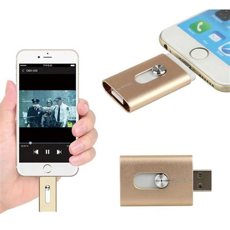 Usb Iphone 6s new 32gb gold usb i flash drive u disk 8 pin memory stick