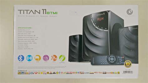 Sonicgear Titan 9 Btmi Speaker sonicgear titan 11 btmi 2 1 speaker review