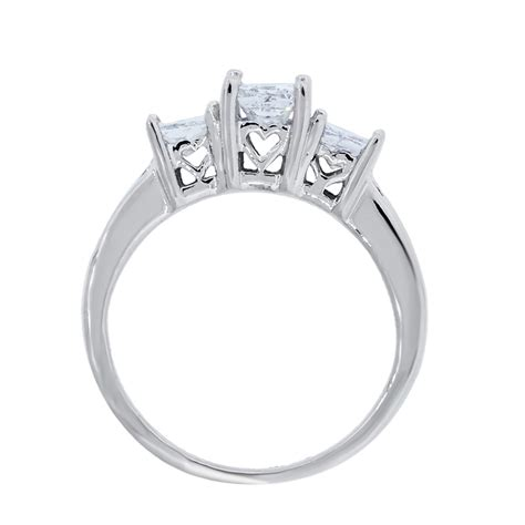 14k white gold 1 10ctw princess cut engagement ring