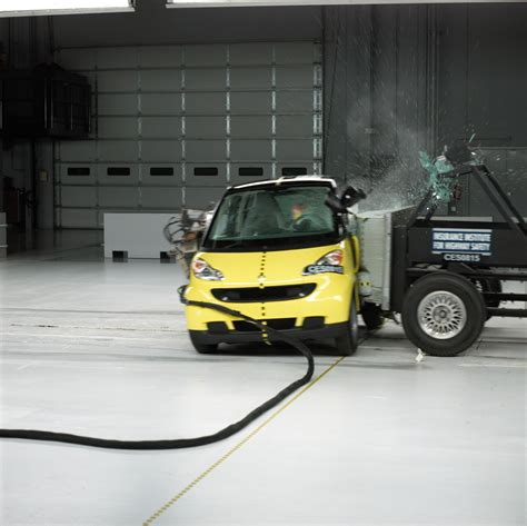 smart car test official 2008 smart fortwo iihs crash test results