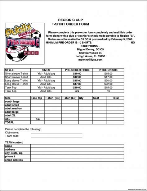 T Shirt Order Form Template Microsoft Word Template Business Microsoft Word Order Form Template