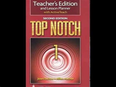 Second Top top notch 1 second edition s book