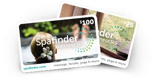 Spafinder Gift Cards Locations - gift card spa gift cards spa gifts spafinder wellness 365