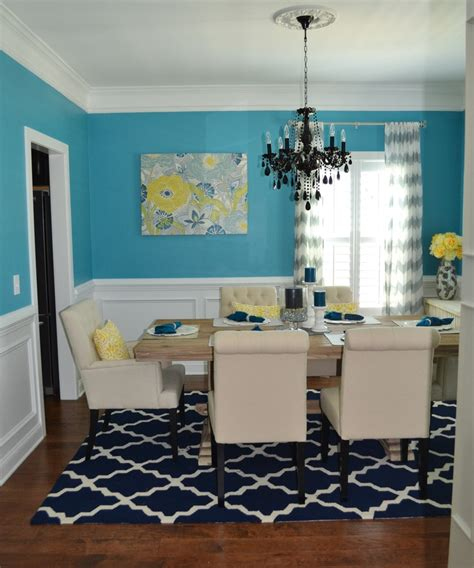 turquoise dining room turquoise and yellow dining room with black chandelier contemporary modern interior design