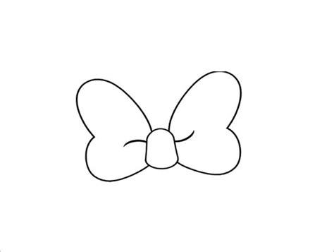 8 printable minnie mouse bow templates free premium
