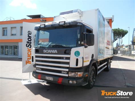 scania p94 310 refrigerator truck from italy for sale at