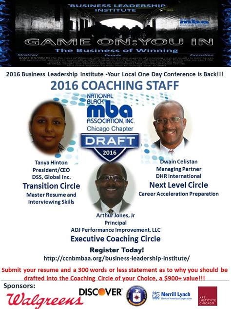 National Black Mba Promo Code by Mba Draft Coaching Circles Nbmbaa Chicago