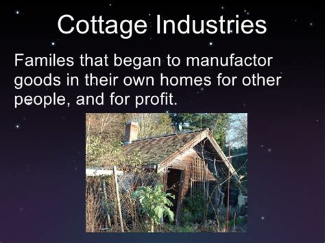 cottage industry cottage industries