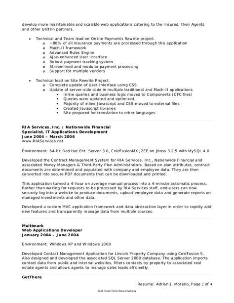 Informatica Developer Resume by Etl Developer Resume Cover Letter