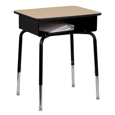 Flash Furniture Student Desk With Open Front Metal Book School Student Desk