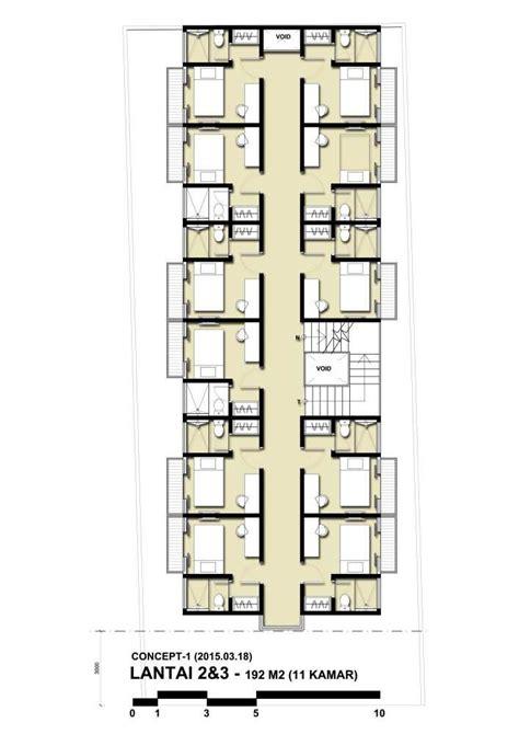 photo denah rumah kost benhil  desain arsitek oleh indrag