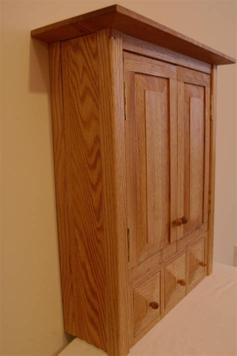 Unique Cabinets by Custom Country Oak Three Drawer Spice Medicine Cabinet By