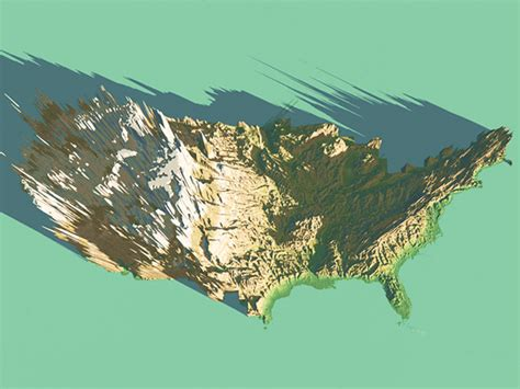 3d map of the united states 3d map of united states usa on behance