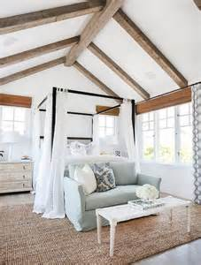 Cottage Bedroom Vaulted Ceiling Rustic Wood Ceiling Design Decor Photos Pictures