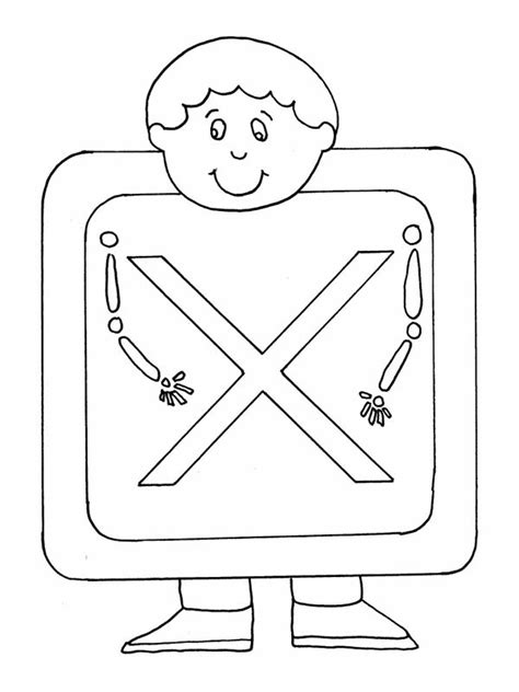 Letter X Coloring Pages Preschool by Preschool Letter X Pages Coloring Pages