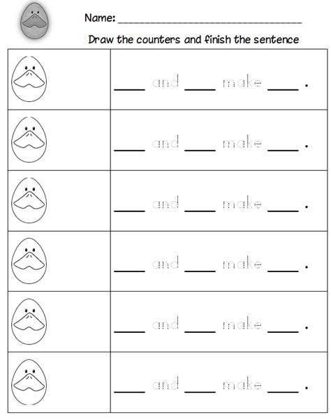 Decomposing Numbers Kindergarten Worksheets by Decomposing Numbers Kindergarten Worksheets De Posing