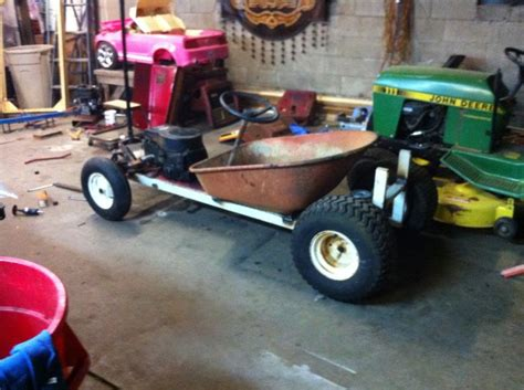cars beginning with t the beginnings of a lawn mower conversion rat rod go cart