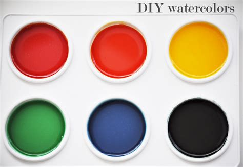 diy watercolor paints going home to roost
