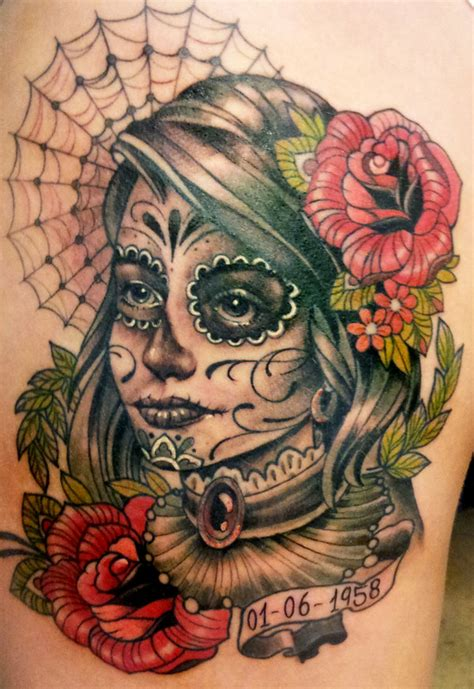 day of the dead roses tattoo day of the dead 5 by mojoncio on deviantart