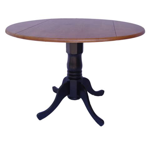 Drop Leaf Pedestal Table Dual Drop Leaf Pedestal Table Colors Dcg Stores