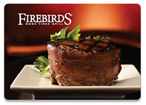 Firebirds Wood Fired Grill Gift Card - using print on demand gift cards cps cards