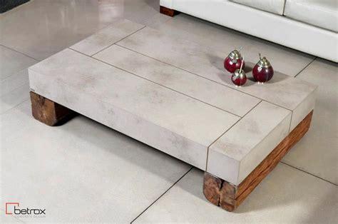 muebles de microcemento mesa baja de dise 241 o p living microcemento y madera