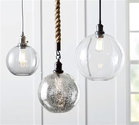 Glass Globe Pendant Lights Pb Classic Pendant Glass Globe Pottery Barn