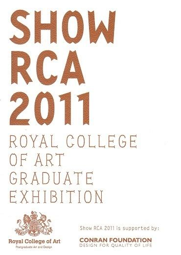 Royal College Of Graduate Show One To Justin Smith by Takato Sasaki Official Website News2011