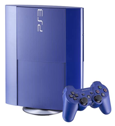Blue Ps3 8 azurite blue 250gb ps3 coming exclusively to gamestop priced at 249 99 and dated for october