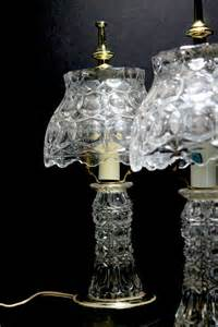 Mid Century Table Lamps hollywood regency crystal lamps gilbert bedroom boudoir