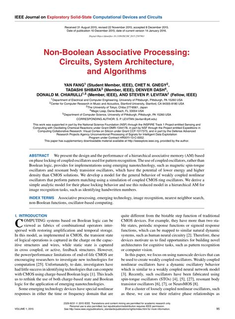 efficient pattern matching algorithm for memory architecture pdf non boolean associative processing circuits system