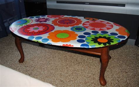 Decoupage Table Top With Fabric - 17 best ideas about decoupage coffee table on