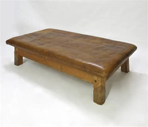 vintage leather bench vintage leather gym bench or table circa 1940 at 1stdibs