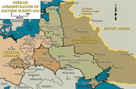 map of europe 1942 german administration of eastern europe 1942