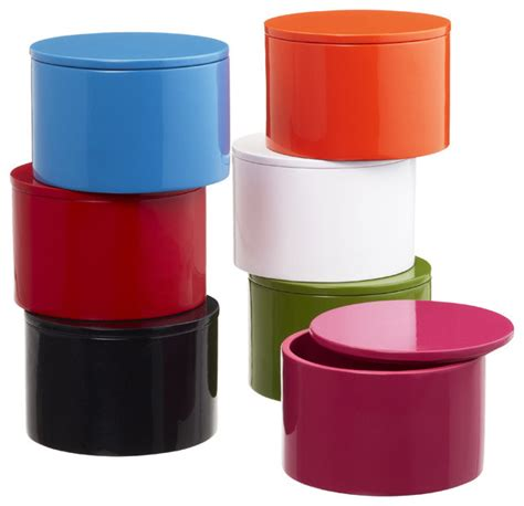 Decorative Containers by Lacquered Box Modern Decorative Boxes By The