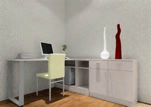 bedroom desk with computer 3d house