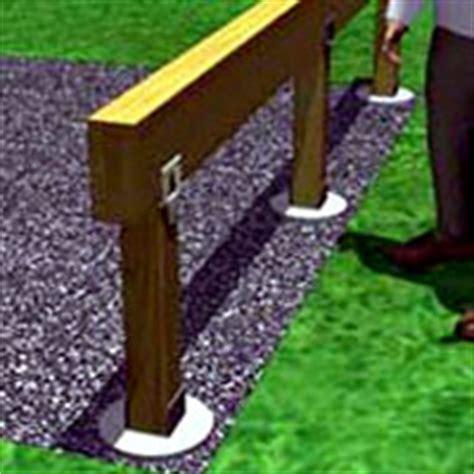 Mettre En Portafaux by Build A One Level Deck 1 Rona