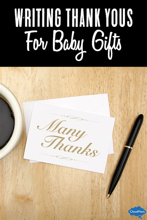 writing thank you notes for bridal shower gifts write a thank you note for a baby gift photo what to